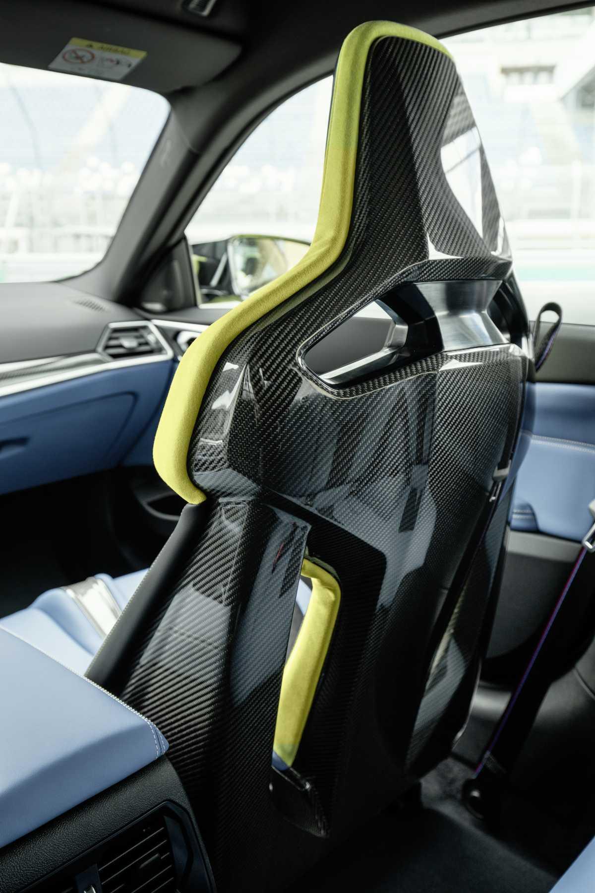 2020 BMW M4 carbon seats rear