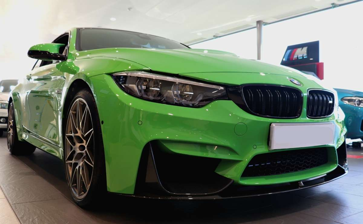 Green M4 Competition Front