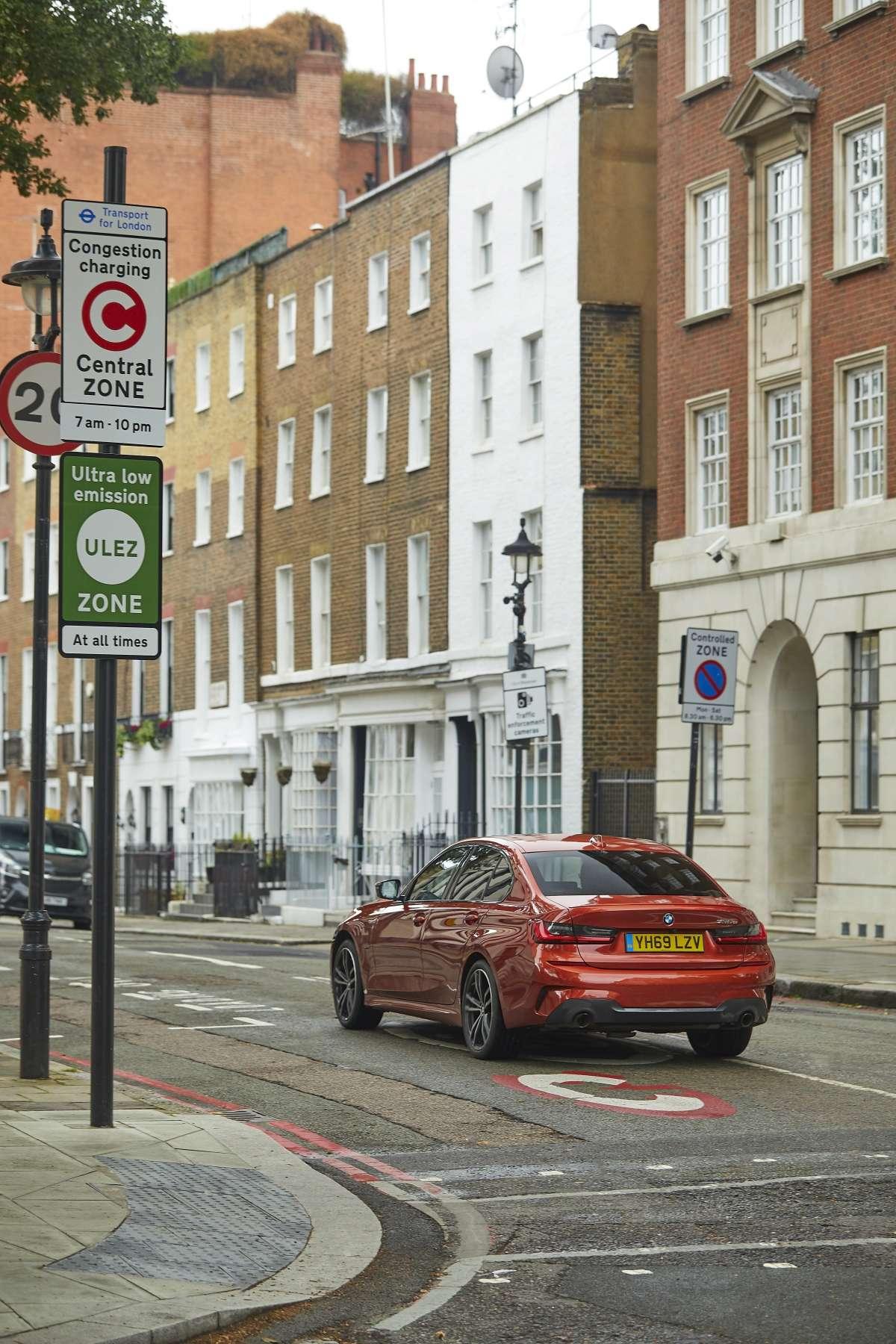 Bmw edrive zones uk 330e driving london