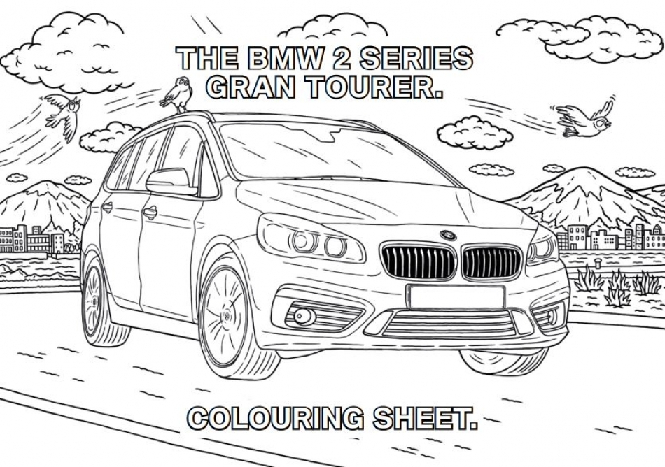 Colour in your favourite BMW.
