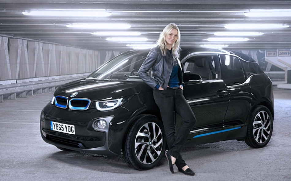 Jodie Kidd drives the BMW i3