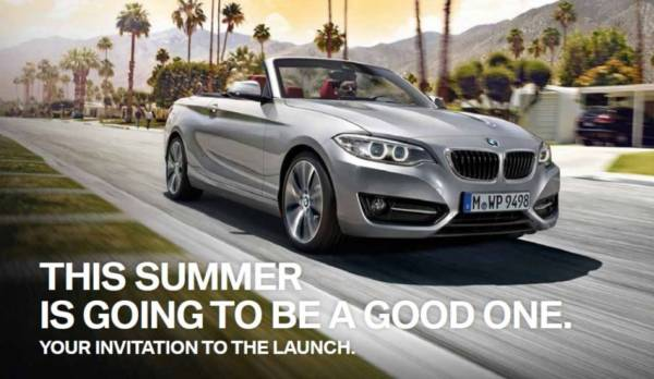 The New BMW 2 Series Convertible - Launches Saturday 7th March