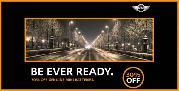 Be Ever Ready with Genuine MINI Batteries