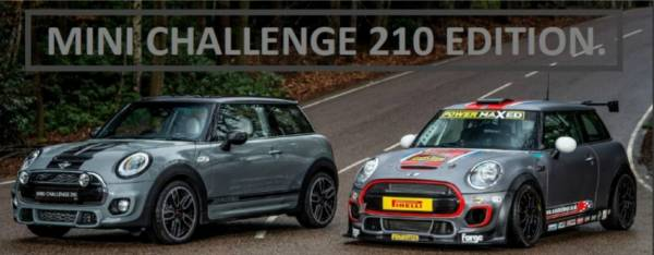 MINI Challenge 210 Edition now at Halliwell Jones MINI