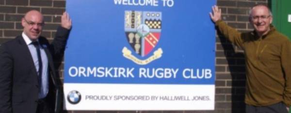 Halliwell Jones Southport sponsors Ormskirk Rugby Club