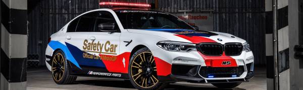 BMW M5 - OFFICIAL SAFETY CAR OF MOTOGP 2018.
