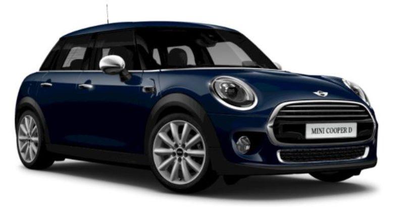Mini Cooper 5 5 Door Blue Car