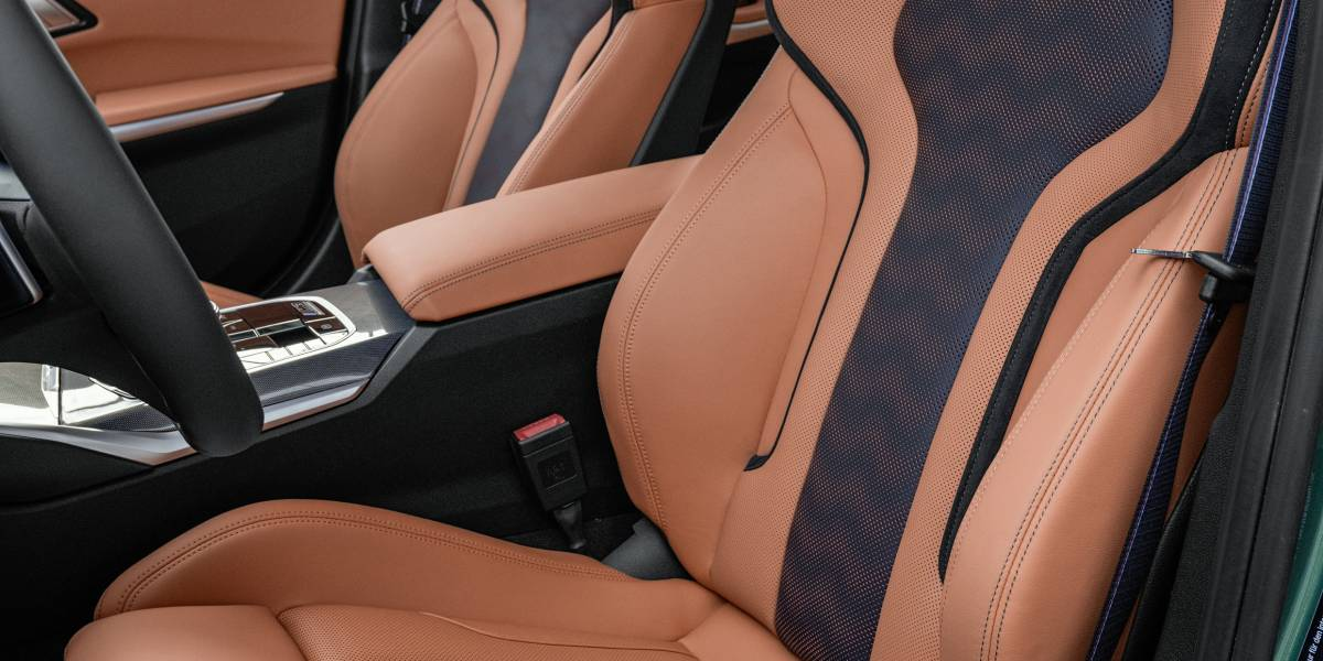 2020 BMW M3 front seats