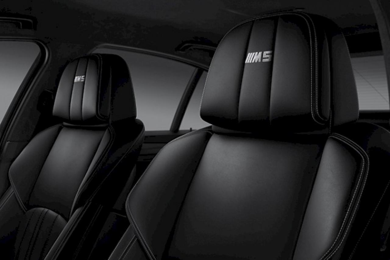 Black Merino leather upholstery