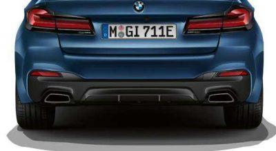 Sporty rear.