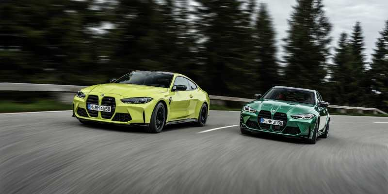 2020 BMW M3 and M4 front