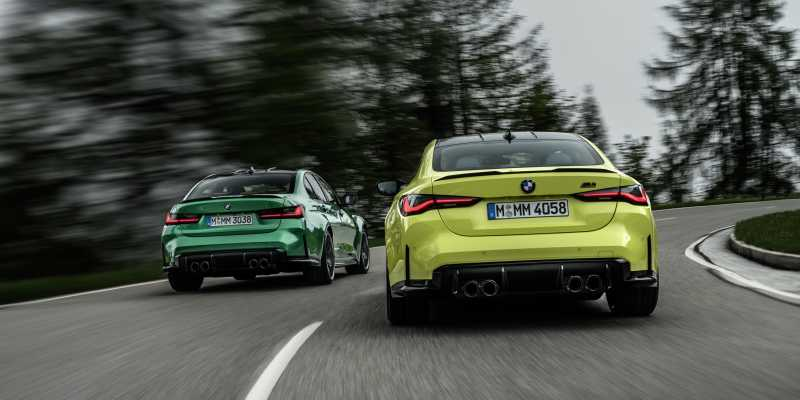 2020 BMW M3 and M4 rear