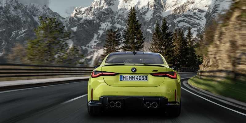 2020 BMW M4 rear
