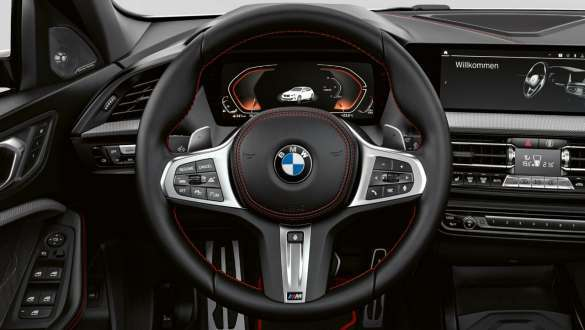 M Sport leather steering wheel.