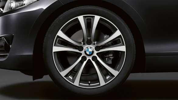 Light alloy wheels.